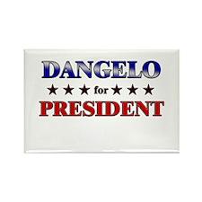 DANGELO for president Rectangle Magnet