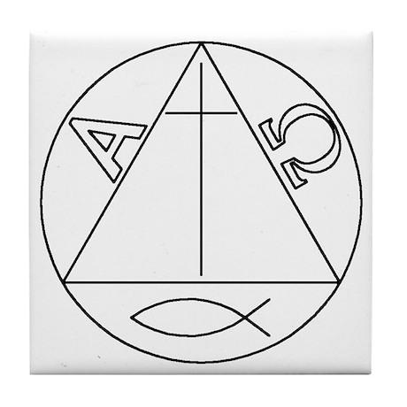 Symbols of Christ (tile coaster)