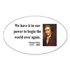 Thomas Paine 11 Oval Decal