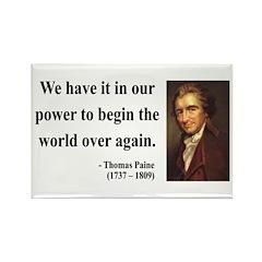 Thomas Paine 11 Rectangle Magnet