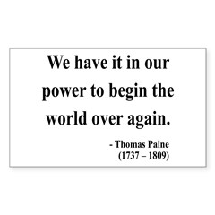 Thomas Paine 11 Rectangle Decal
