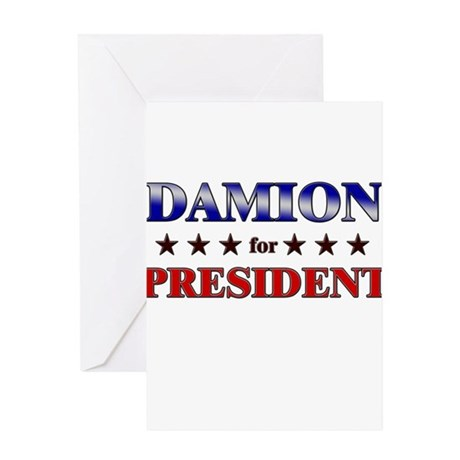 DAMION for president Greeting Card