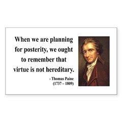 Thomas Paine 12 Rectangle Decal