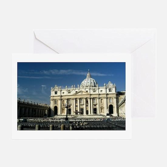 St Peters Basilica Greeting Card