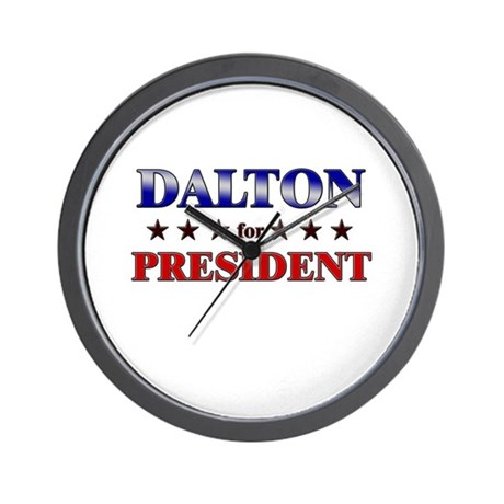 DALTON for president Wall Clock