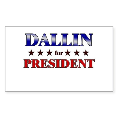 DALLIN for president Rectangle Sticker