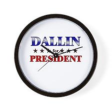 DALLIN for president Wall Clock