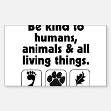 Be kind Rectangle Decal