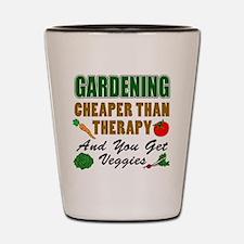 Gardening Cheaper Than Therapy Shot Glass