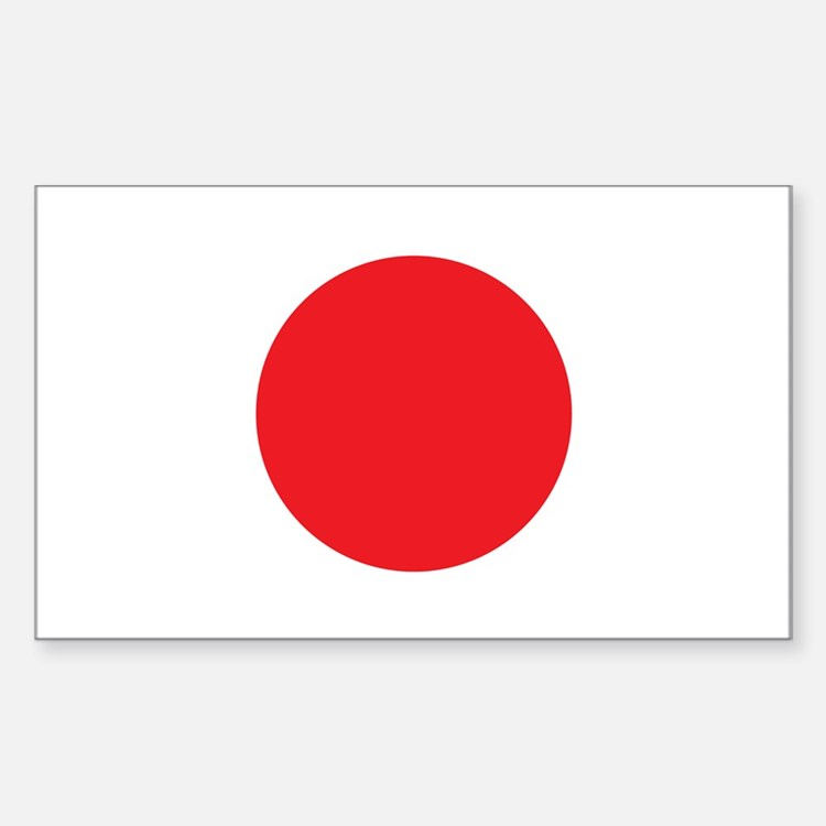 Japanese Flag Rectangle Decal