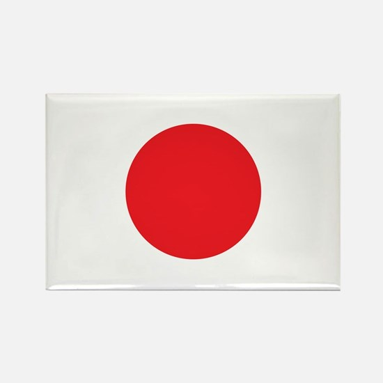 Japanese Flag Rectangle Magnet