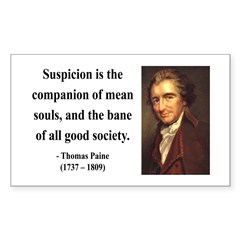 Thomas Paine 13 Rectangle Decal