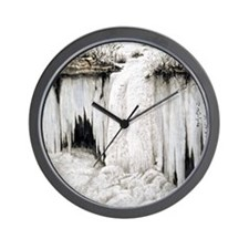 Winter Falls Wall Clock