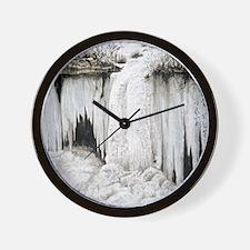 Winter Falls Wall Clock