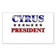CYRUS for president Rectangle Decal