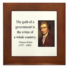 Thomas Paine 14 Framed Tile