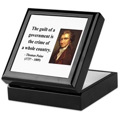 Thomas Paine 14 Keepsake Box
