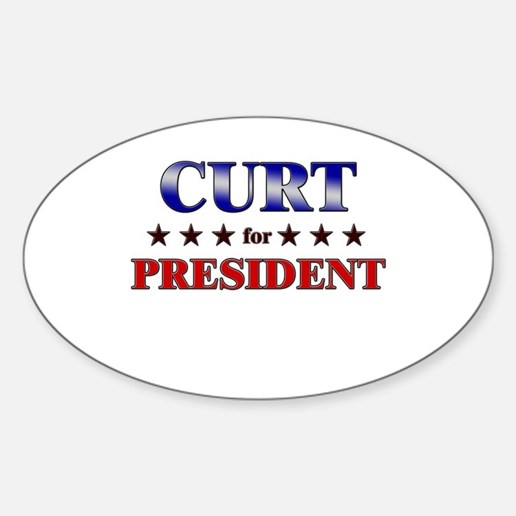 CURT for president Oval Decal