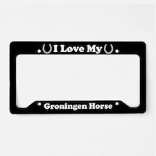 I Love My Groningen Horse License Plate Holder