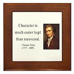 Thomas Paine 15 Framed Tile