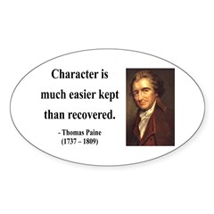 Thomas Paine 15 Oval Sticker