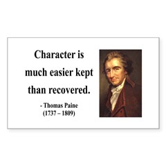 Thomas Paine 15 Rectangle Decal