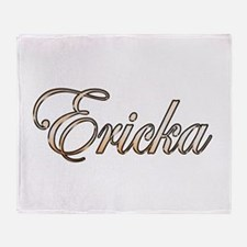 Gold Ericka Throw Blanket