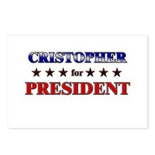 CRISTOPHER for president Postcards (Package of 8)