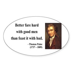 Thomas Paine 16 Oval Decal