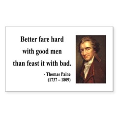 Thomas Paine 16 Rectangle Decal