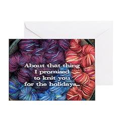 Tardy Knitter Holiday Card [single]