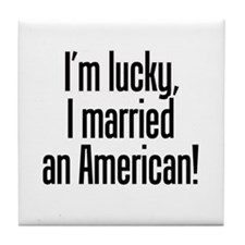 Married an American Tile Coaster