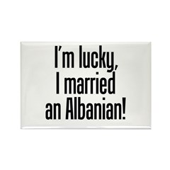 Married an Albanian Rectangle Magnet (10 pack)