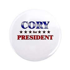 """CORY for president 3.5"""" Button"""