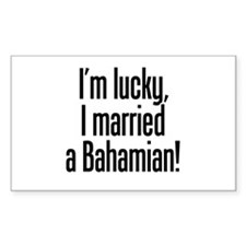 Married a Bahamian Rectangle Decal