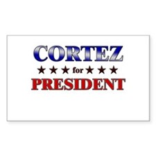 CORTEZ for president Rectangle Decal