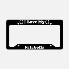 I Love My Falabella Horse License Plate Holder