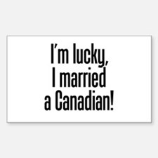 Married a Canadian Rectangle Decal