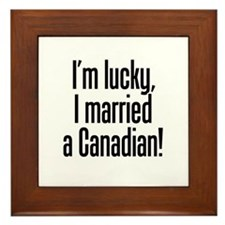 Married a Canadian Framed Tile