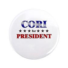 "CORI for president 3.5"" Button"