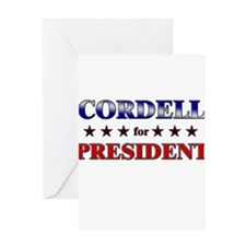 CORDELL for president Greeting Card