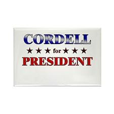 CORDELL for president Rectangle Magnet