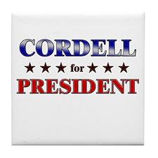 CORDELL for president Tile Coaster