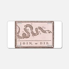Join or Die Aluminum License Plate