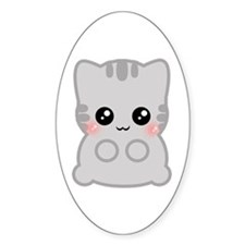 Neko Oval Decal