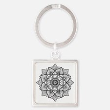 Cute Girly Square Keychain