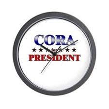 CORA for president Wall Clock