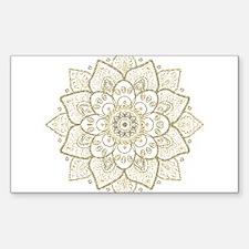 Gold Glitter Floral Mandala Design Decal