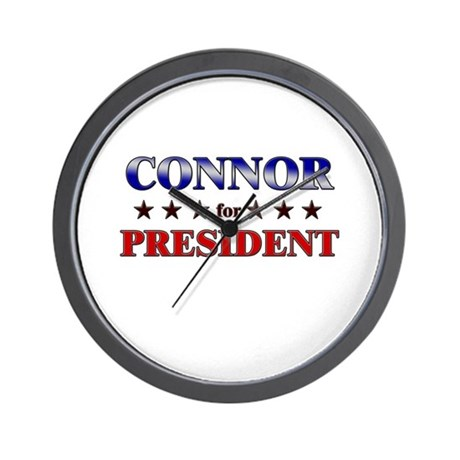 CONNOR for president Wall Clock