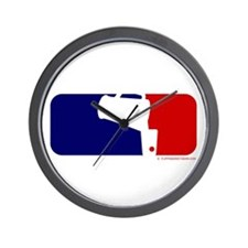 Beer Pong League Logo Wall Clock